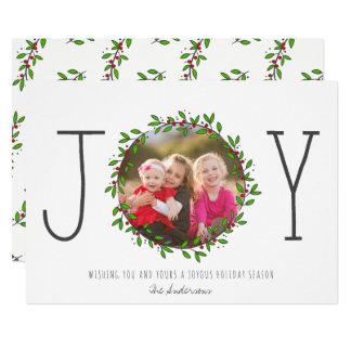 Simple Joy Wreath Christmas Photo Card