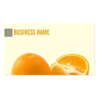 Simple Juicy Fresh Oranges Business Card