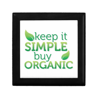 Simple Keep it buy organic Gift Box