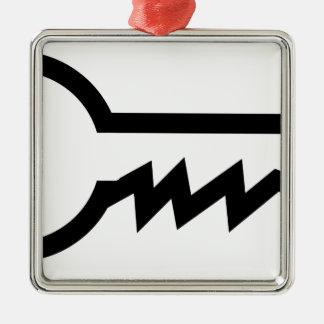 Simple Key Metal Ornament