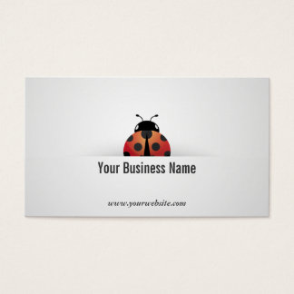 Simple Ladybug Business Card