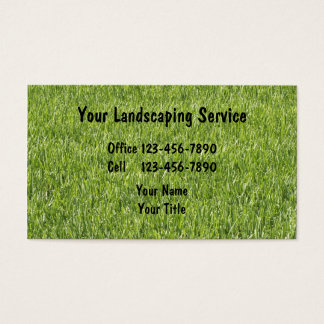 Simple Landscaping Business Cards