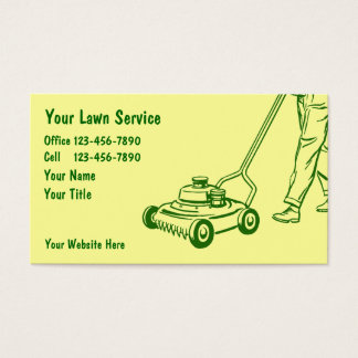 Simple Lawn Care Business Cards