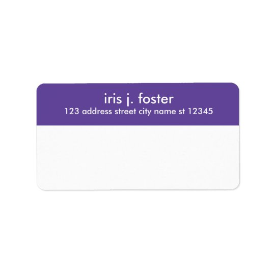 Simple layout mailing label with return address
