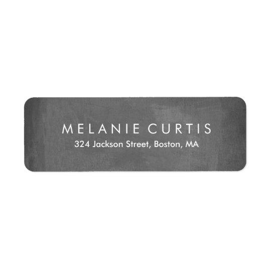 Simple Legible Chalkboard Return Address Label