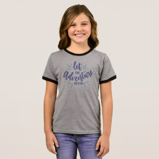 Simple Let the Adventure Begin | Ringer Shirt