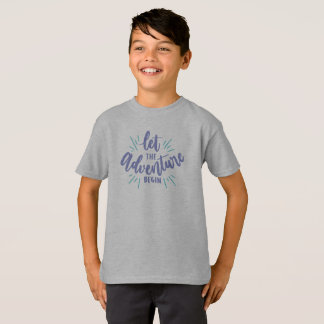 Simple Let the Adventure Begin Tagless Shirt