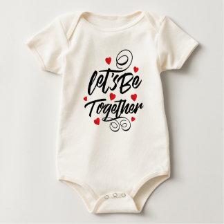Simple Let's Be Together Valentine   Bodysuit