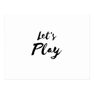 Simple Let's Play Funny Postcard