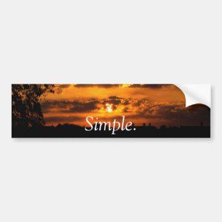 """""""Simple."""" Lever de soleil Autocollant De Voiture"""