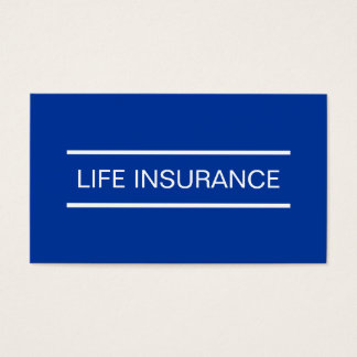 Simple Life Insurance Business Cards