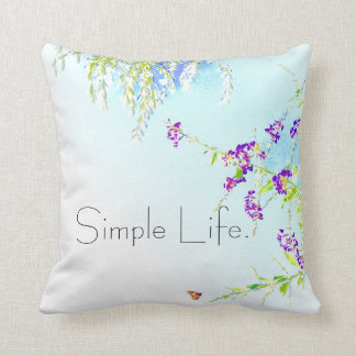 Simple Life White flowers pillow