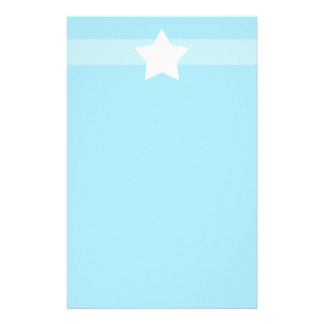 Simple light Blue star Stationary Customized Stationery