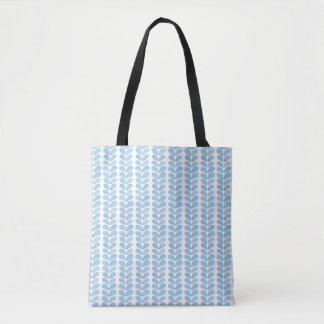Simple Light Blue Watercolor Symbol Pattern Tote Bag