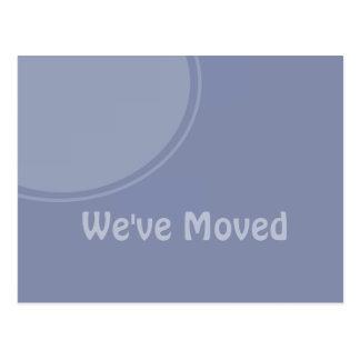 Simple light blue Weve Moved Announcement Postcard