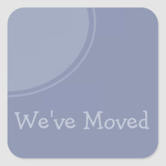 Simple light blue Weve Moved Announcement Square Sticker