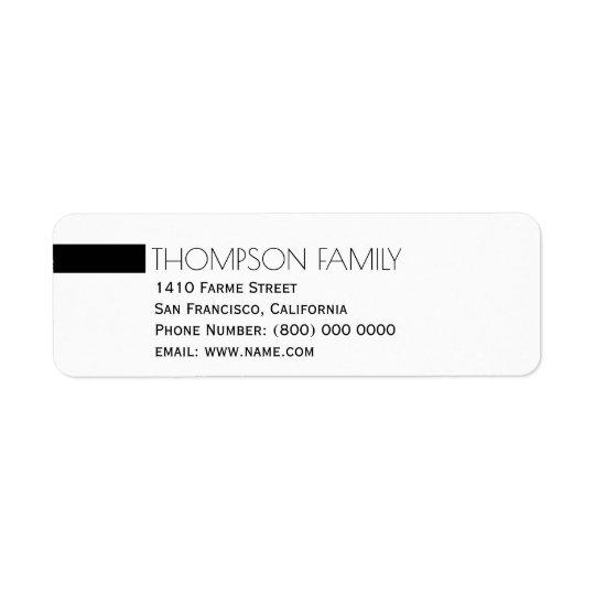 simple light & clean, family name return address label