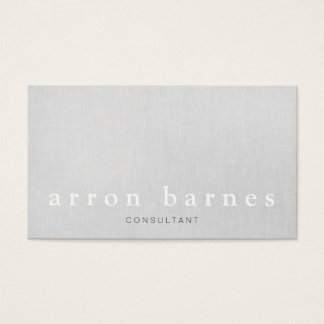 Simple Light Gray Modern Minimalist Designer Business Card
