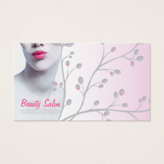 Simple Light Woman Beauty Salon Card