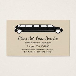 Simple Limousine Courier Service Business Card
