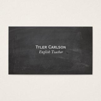 Simple Line Chalkboard Business Card