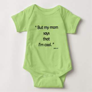 Simple look for drinks, green, with sentence baby bodysuit