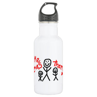 Simple Love My Two Kids Cartoon 532 Ml Water Bottle