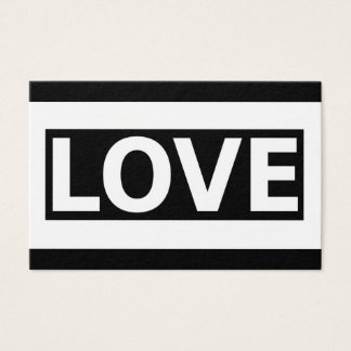 Simple Love statement Design Business Card