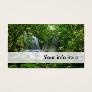 Simple lush waterfall business card