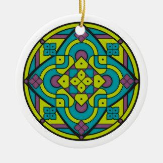 Simple Mandala 1 Ceramic Ornament