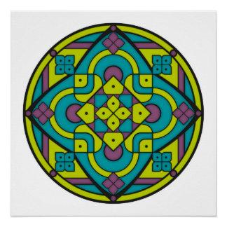 Simple Mandala 1 Poster