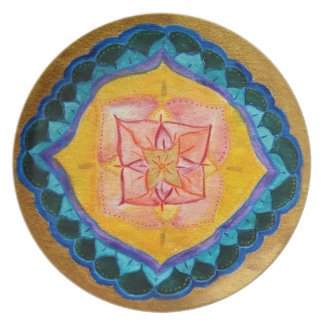 Simple Mandala Melamine Plate