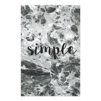 Simple marble personalized stationery