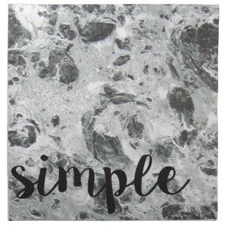 Simple marble printed napkin