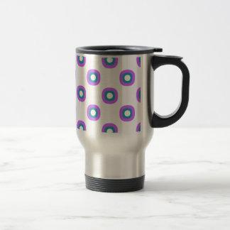 Simple marker drawing pattern travel mug