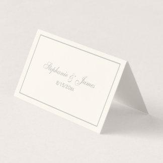 Simple Medium Gray Frame Escort Cards Ivory