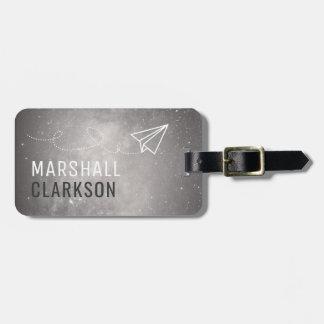 Simple Mens Dark Grey Elegant Bag Attention Luggage Tag