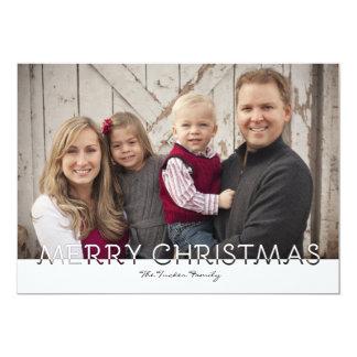 Simple Merry Christmas Full Photo Christmas Card
