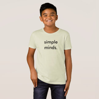 Simple Minds Funny Kids School T-Shirt