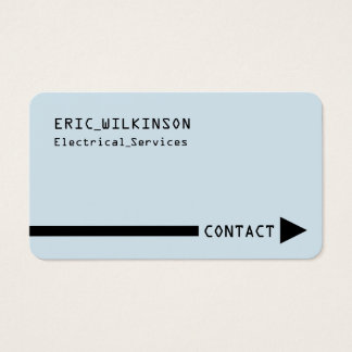 Simple minimal and professional cover business card