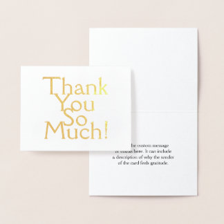 "Simple, Minimal & Basic ""Thank You So Much!"" Card"
