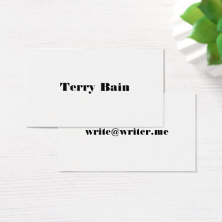 Simple Minimal Center Front and Back Business Card