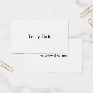 Simple Minimal Center Front and Back Pan Am Business Card