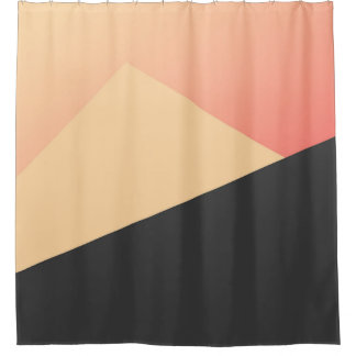 Simple Minimal Peach, Coral, & Black Geometric
