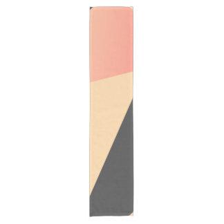 Simple Minimal Peach, Coral, & Black Geometric Short Table Runner