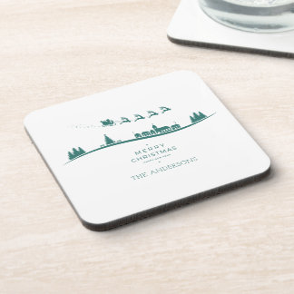 Simple Minimal Santa Claus Christmas | Coaster