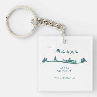 Simple Minimal Santa Claus Christmas Keychain