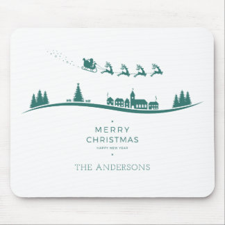 Simple Minimal Santa Claus Christmas | Mousepad