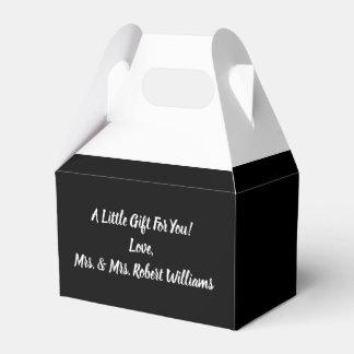 Simple Minimalist Black and White Wedding Favor Box