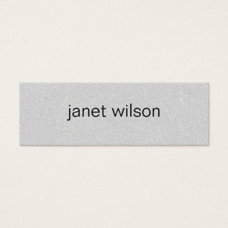 simple minimalist chic gray texture mini business card